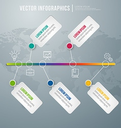 Abstract infographic design Workflow layout vector