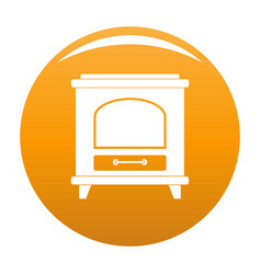 Ancient oven icon orange vector