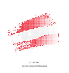 austria flag with halftone effect vector image