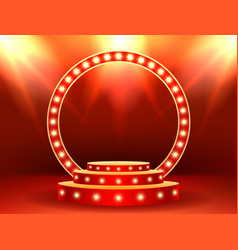 award ceremony stage podium lighting scene vector image