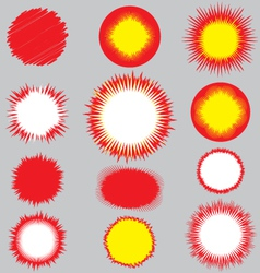 blasts 2 vector image