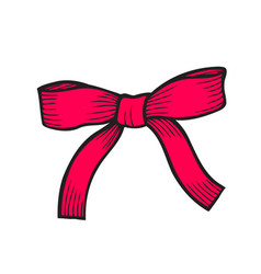 bow isolated on white vector image