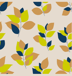 bright colorful leaf seamless pattern vector image