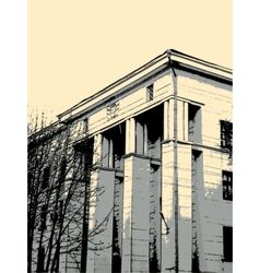 Building in grunge style vector image