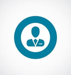 business avatar icon bold blue circle border vector image