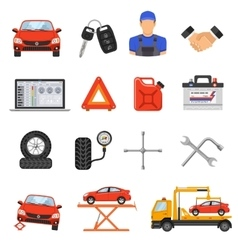 Car Service Set Icons vector image