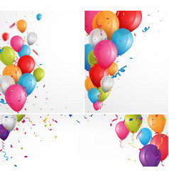 colorful celebration balloons background vector image