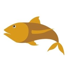 colorufl silhouette with sea fish yellow vector image