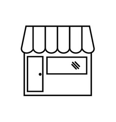 Counter store icon - thin line vector