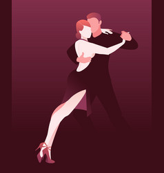 couple dancing passionate argentine tango vector image