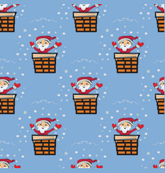 cute christmas seamless pattern background - vector image vector image