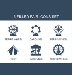 Fair icons vector