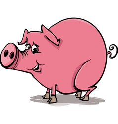 farm pig cartoon vector image