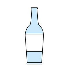 flat line bottle design vector image