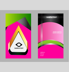 flyer leaflet booklet layout editable design te vector image