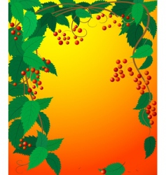 frame leaves vector image