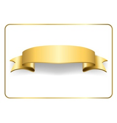 Gold satin ribbon on white 2 vector