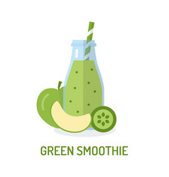 green smoothie in jar vector image