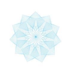 guilloche rosette sign color thin line emblem vector image