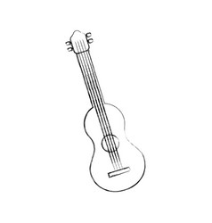 guitar instrument music acoustic sound vector image