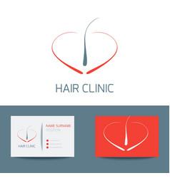 Hair clinic business card vector