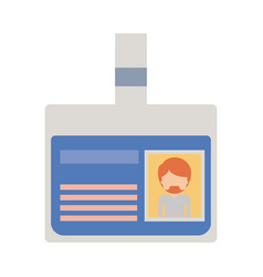 Identification card with half body man picture and vector