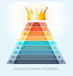 infographic success business modern template for vector image