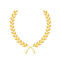 laurel gold frame icon graphic vector image