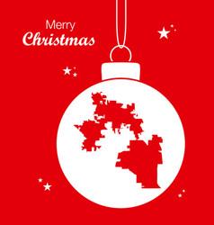 merry christmas theme with map of orlando florida vector image