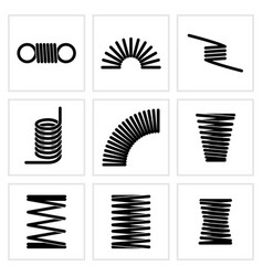 Metal spiral flexible wire elastic spring vector
