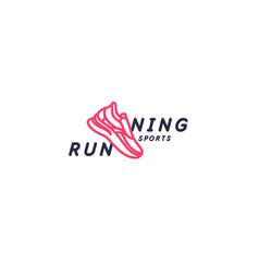 modern emblem with inscription sports running vector image