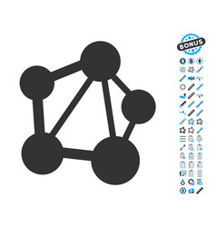 Network icon with bonus pictograms vector