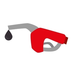Nozzle gas station gasoline vector