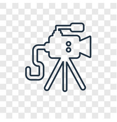 old video camera concept linear icon isolated on vector image