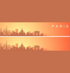 Paris beautiful skyline scenery banner vector