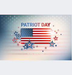 patriot day usa flag background with united vector image