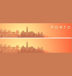 Porto beautiful skyline scenery banner vector