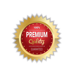 premium quality sticker golden medal icon vector image
