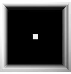 Radiating expanding squares geometric monochrome vector