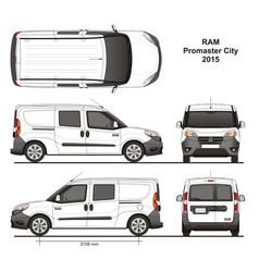 Ram promaster city combi delivery van 2015 vector