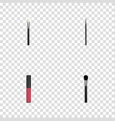realistic cosmetic stick liquid lipstick beauty vector image