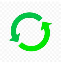 Recycling icon arrow symbol eco waste reuse cycle vector