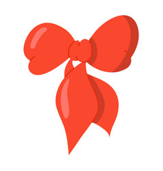 red ribbon can be used to beautify hair or other vector image
