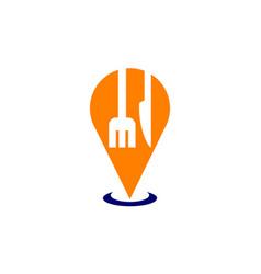 restaurant searching logo design template vector image