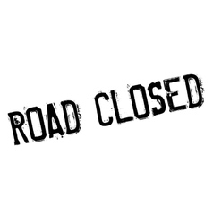 Road Closed rubber stamp vector