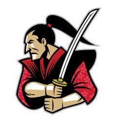 samurai warrior vector image