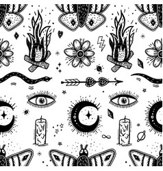 Seamless pattern with magical pattern mystical vector