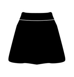 Skirt black color icon vector
