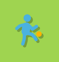 Soccer player in sticker style vector