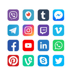 social media icons inspired facebook vector image